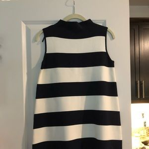 "Zara ""Knit"" Black White Striped Sleeveless Dress"